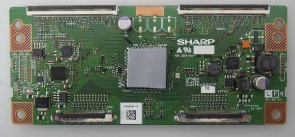 T-Con CPWBXRUNTKDUNTK4593TP YB z.B. für LC-46LE542E , LC-46LE732E