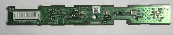Toshiba 75018160 TV LED Board PE0826 V28A001100A1